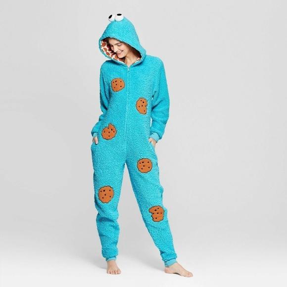 734d6c38 Women's Union Suit Pajamas - Cookie Monster. Boutique. Sesame Street